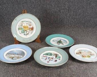 Avon Christmas Plate 1975,1977,1978,1979,1980