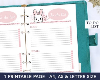 To do list planner, to do list notepad, a5 notebook, planner refill, to do list printable, digital planner, a5 planner inserts, pet gift