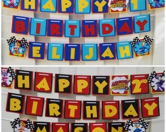 Mickey Roadster Racers Banner, Mickey Roadster Racers Birthday, Minnie Happy Helpers Banner, Minnie Happy Helpers Birthday