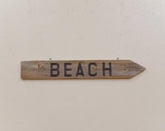 Beach Decor, Beach Sign, Beach House Gift, Nautical Decor, Rustic Wood Sign, Beach Lover, Indoor Outdoor, barn wood sign, Farmhouse sign,
