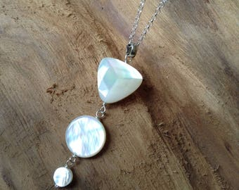 Ivory Mother of Pearl Silver Pendant/ Gifr for Her