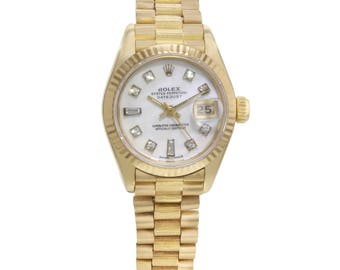 Rolex Datejust 69288 18K Solid Yellow Gold Quartz Ladies Watch
