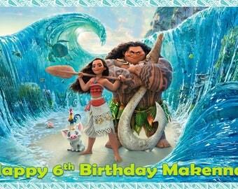 DIGITAL DOWNLOAD Moana inspired birthday poster} 24in x 36in