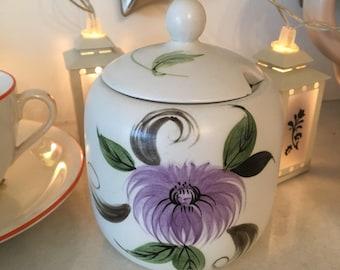 Vintage 1940s Radford, Handpainted Preserve Pot, Jam Pot