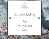 Custom Wrap Dress - Reserved for Ms. Arunaa
