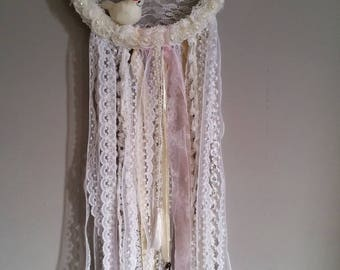 Dream catcher white romantic inspired shabby chic