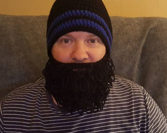 Crochet Bearded Beanie/ any size or color