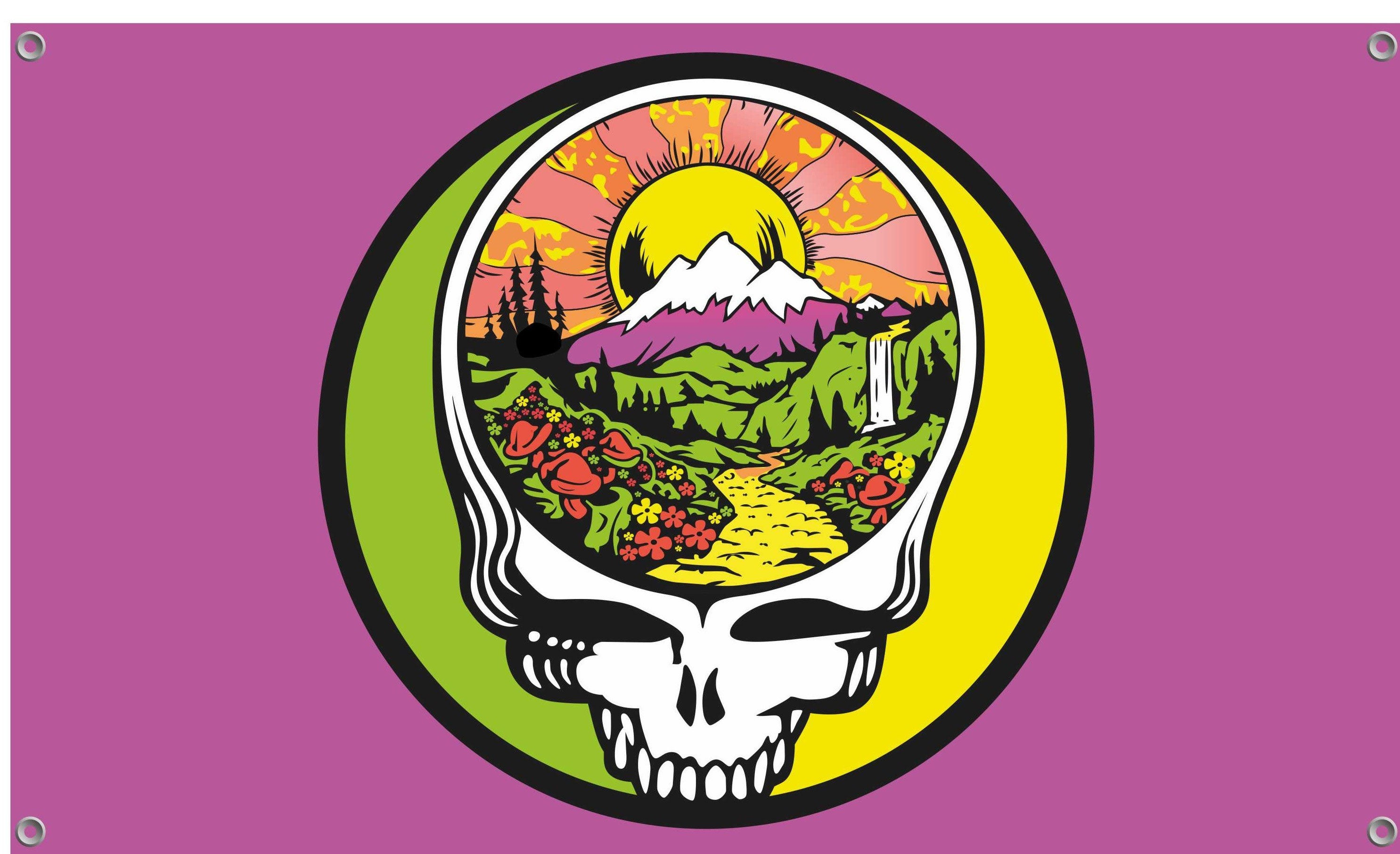 Grateful Dead Steal Your Face Fire On The Mountain Flag