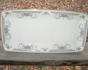 Royal Doulton Tray, Made In England, Juliet Pattern, English Fine Bone China, Copyright 1981, 11 By 5 1/2 Inches, Excellent Condition