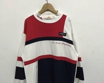 20% OFF Vintage Ellesse Pullover/Casual Shirt/Ellesse Sweater/Ellesse Tennis Shirt/Ellesse Sportwear