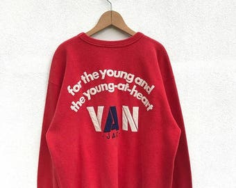 20% OFF Vintage Van Jac Big Logo Sweatshirt/Van Jac Crewneck/Van Jac Pullover