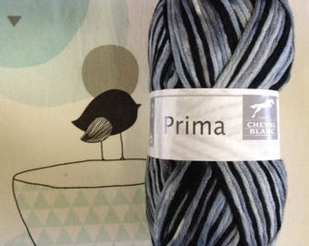 PRIMA wool gray mix - white horse