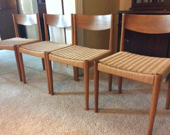 Lovely Paul Volther Danish Teak Dining Chairs