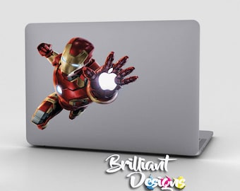 Iron Man Decal, Iron man Sticker,Iron man Macbook Decal, Macbook Decals, Ironman Sticker, Iron man Skin, Tech Gift, Christmas Gift,  Gift