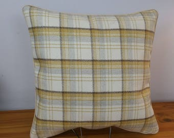 Cushion Cover Mustard Ashley Wilde Edderton Tartan Check 16 x 16 LilleyBee 4 Colours