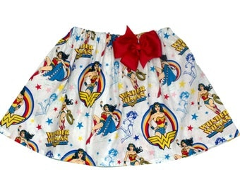 Girl skirt, Wonder woman birthday skirt, Wonder woman skirt,  girl wonder woman skirt, girl skirt, skirt girl