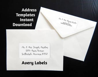 Printable address template for envelope labels avery 2 x printable address template for envelope labels avery 2 x 4 1 x 2 pronofoot35fo Gallery