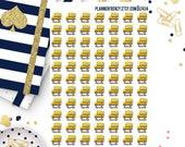 77 Field Trip School Bus Planner Stickers! LF434