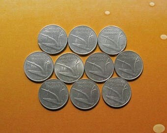 20% Off Sale Italian Coins, Ten Lira Coins, Coins from Italy, Italian History, Italian Collectible, Coin with Dolphin