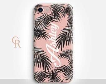 Personalised Leaves Phone Case For iPhone 8 iPhone 8 Plus iPhone X Phone 7 Plus iPhone 6 iPhone 6S  iPhone SE Samsung S8 Custom Palm