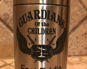 Personalized  Laser Engraved Stainless Steel can holder by Ozark Trail