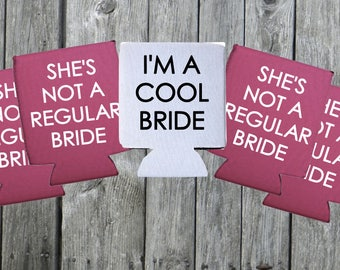 She's Not a Regular Bride I'm A Cool Bride   Mean Girls Bachelorette Party Can Coolers Pack
