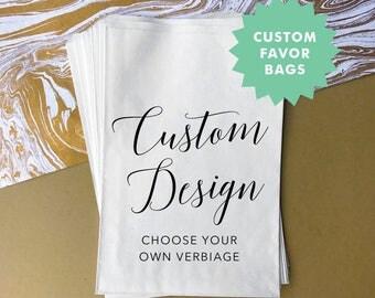 CUSTOM FAVOR BAGS / Candy Buffet Bags / Candy Bar Bags / Favor Bags / Personalized Favor Bags / Treat Bags / Donut Bags / Set of 10