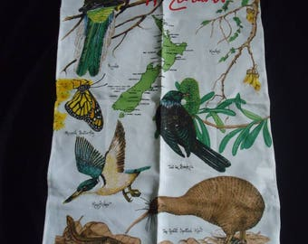 Crisp NEW ZEALAND Vintage Souvenir Linen Towel