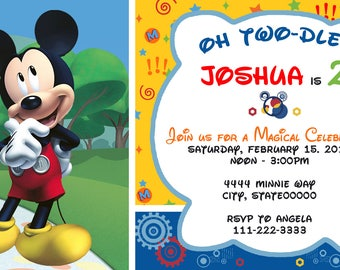Mickey Mouse  Printed Invitations