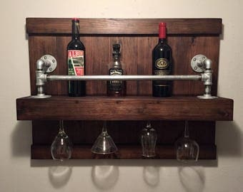 Industrial Rustic Wine Rack