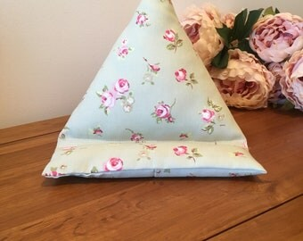 Ipad Stand, Sage, Floral, Tablet, eBook eReader, Smartphone, soft cushion, Holder Stand, Beanbag, Practical, Cushion, support, Gadget