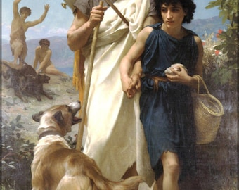 Poster, Many Sizes Available; Homer And His Guide William-Adolphe Bouguereau (1825-1905) - Homer And His Guide (1874  Iliad And The Odyssey