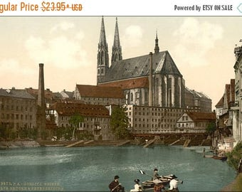 20% Off Sale - Poster, Many Sizes Available; Old Bridge And St. Peters Church, Gorlitz, Silesia, Germany 1890