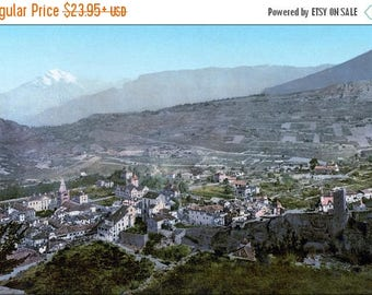 20% Off Sale - Poster, Many Sizes Available; Sion, General View, Valais, Switzerland Photochrom C1900