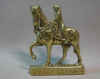 Brass Lady Godiva Figurine Barras Market Glasgow