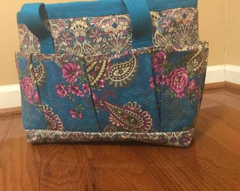 Purse or travel bag with clear plastic lining next day shipping