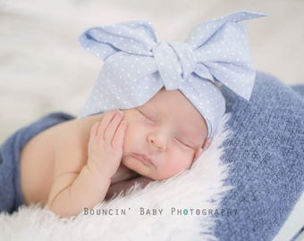 CHAMBRAY SUGAR Gorgeous Wrap- headwrap; fabric head wrap; floral head wrap; boho; newborn headband; baby headband; toddler headband