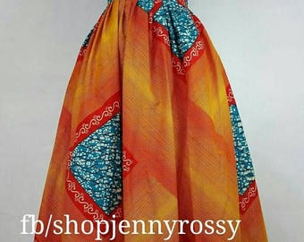 READY TO Ship-African print Maxi skirt,high waist skirt,Ankara skirt African clothing