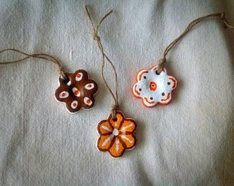 Salt Dough Petite Flower Ornaments