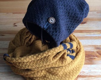 Hat and infinity scarf the Alize rug set