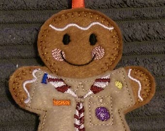 Gingerbread Boys Scouting Hanging Decoration