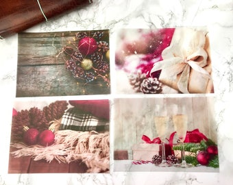 Christmas at the Lodge Vellum Planner Dashboards For TN's and Midori Travelers Notebook V165