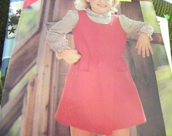 Sewing Pattern - Butterick See & Sew 5199 - Children's, Girls' Jumper - Size B 5 - 6 - 6X