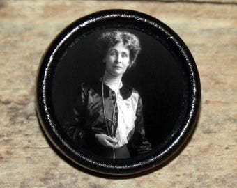 EMMELINE PANKHURST Pendant or Brooch or Ring or Earrings or Tie Tack or Cuff Links