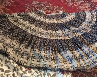 Vintage Provence France Camargue Provencal Cotton Skirt Gypsy Costume