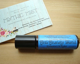 ANXIETY Blend, Essential Oil, Anti-Anxiety Roller Bottle, Essential Oil Blend, Anxiety, Aromatherapy, Anxiety Relief