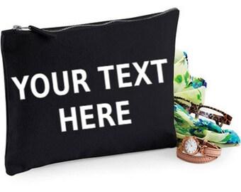Personalised makeup bag, custom makeup bag - personalised makeup bags - personalised cosmetic bag - gift idea - gift ideas - personalised