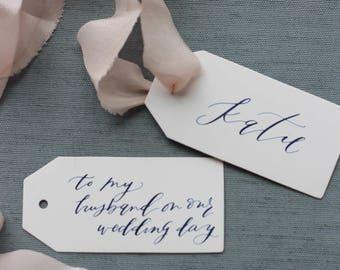 Custom Calligraphy Gift Tags for Wedding, Shower, Christmas, Holidays, Birthday and more