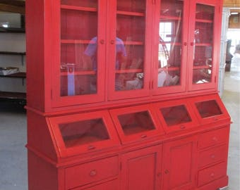 Country Store Cabinet Display Case Backbar Counter Kitchen Cupboard Hutch a