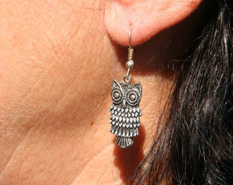 Earrings with OWL